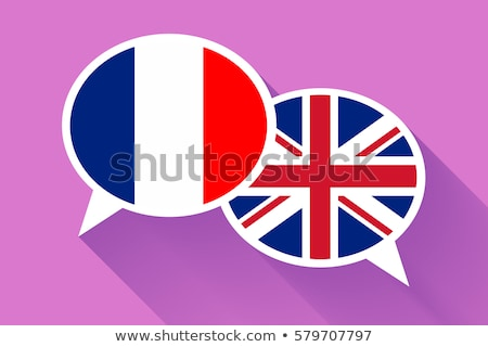 Dos blanco Francia gran bretaña banderas Foto stock © evgeny89