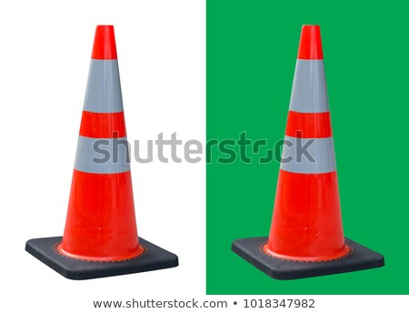 Bright red and white road cone isolated on white Stock photo © evgeny89