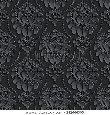 Dark grey luxury baroque seamless pattern in victorian style Stock photo © evgeny89
