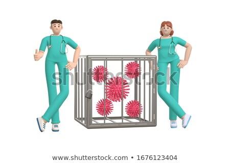 3D médico trancado gaiola ilustração isolado Foto stock © 3dmask