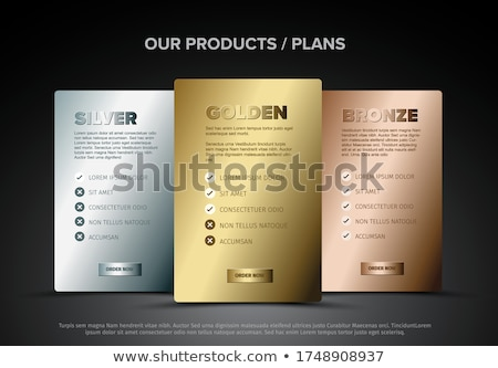 Produto cartões esquema modelo ouro Foto stock © orson