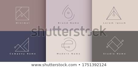 Temizlemek en az logo tasarımı ayarlamak altı dizayn Stok fotoğraf © SArts