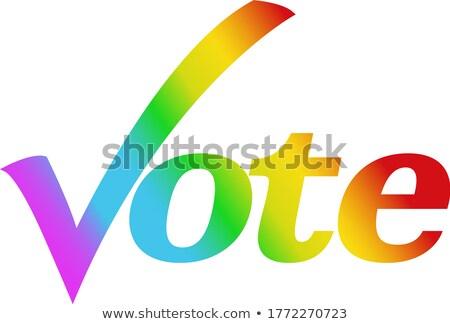 LGBT Community Vote Stock photo © Lightsource