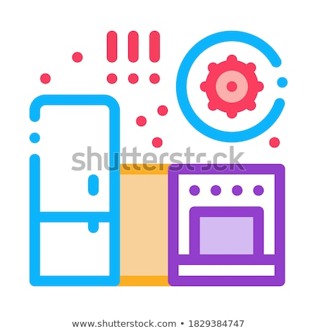 harmful bacteria in kitchen icon vector outline illustration Stock photo © pikepicture