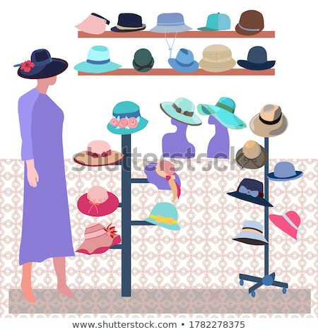 Boutique indoor Fashion store. Modern hats store interior.  Stock photo © Margolana