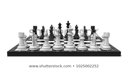 Chess board start position 3D Stock photo © djmilic