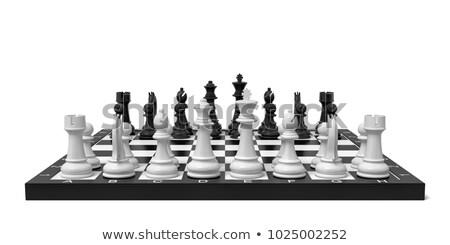 Chess board start position 3D Stock photo © djmilic