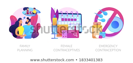 Emergency contraception abstract concept vector illustration. Stock photo © RAStudio