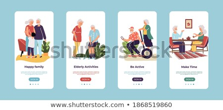 Old people lifestyle app interface template. Stock photo © RAStudio