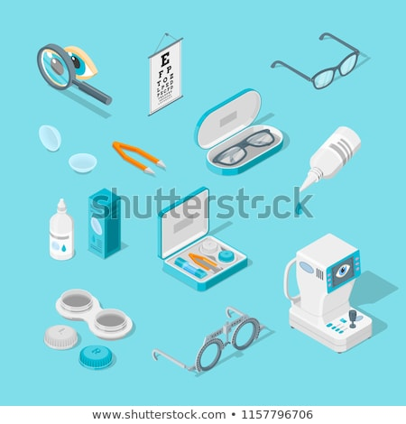 Equipment For Eye Diagnostic isometric icon vector illustration Stock photo © pikepicture