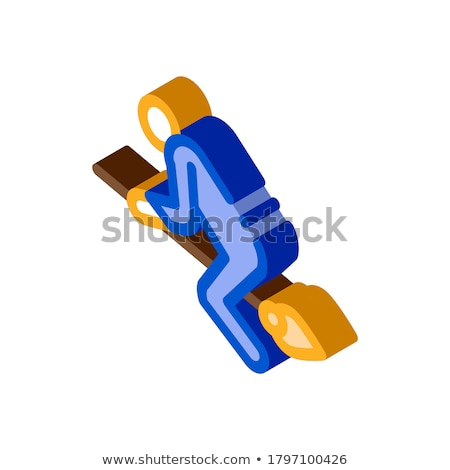 Witch Broomstick isometric icon vector illustration Stock photo © pikepicture