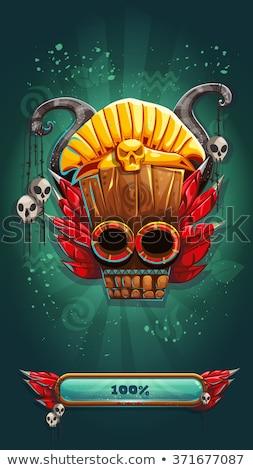 Skull from indigenous native in Peru Stock photo © photoblueice