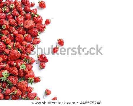 Appétissant rouge fraises tas fraîches verre Photo stock © simply