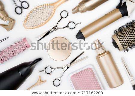 golden hairdryer isolated on white background Stock photo © tetkoren