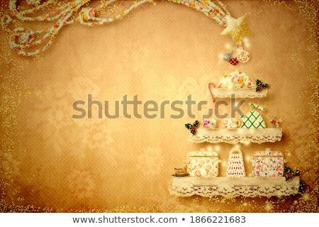 Christmas background, parchment star of Bethlehem Stock photo © marimorena