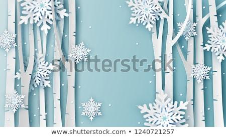 Frozen tree. Stock photo © Leonardi