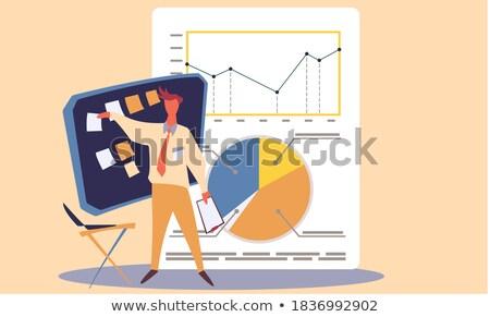 Pénzügyi tervezés tervező hagyományos abakusz tájkép üzlet Stock fotó © azamshah72