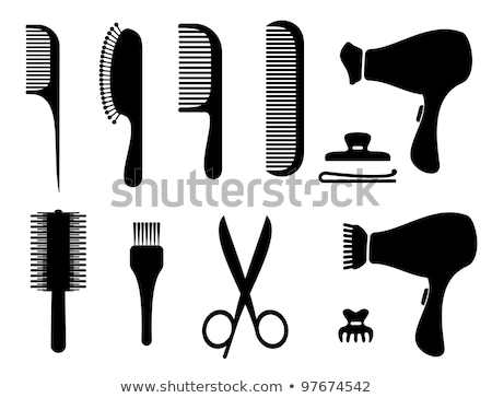 Hairdryer - hairbrush Stock photo © jossdiim