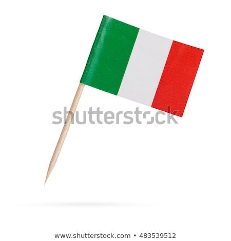 miniatura · bandeira · Itália · isolado - foto stock © bosphorus