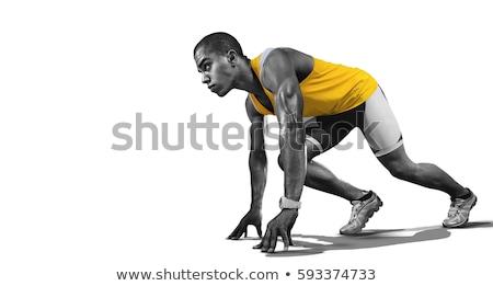 athletic runner isolated Stock photo © smithore