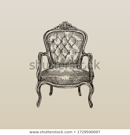 Stock photo: antique chair