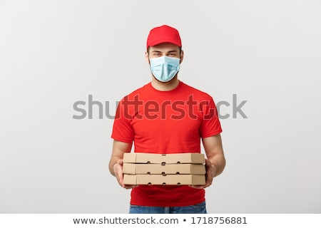 A pizza deliveryman. Stock photo © photography33