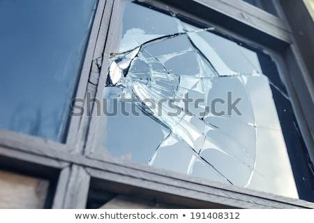 壊れた ウィンドウ レンガの壁 捨てられた 工場 空 ストックフォト © franky242