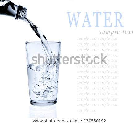 воды · стекла · питьевая · вода · морем · льда - Сток-фото © ferdie2551