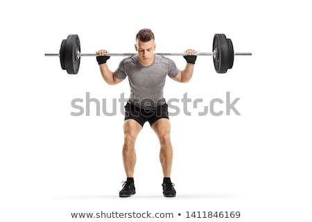 мышечный · человека · гири · crossfit - Сток-фото © dash