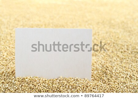 Raw White Quinoa Grains with Blank Card Stock photo © ildi