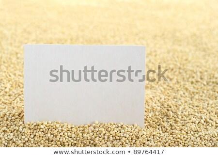 Raw White Quinoa Grains with Blank Card stock photo © ildi