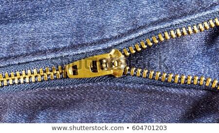 Jeans cremallera primer plano tiro botón fondo Foto stock © Taigi