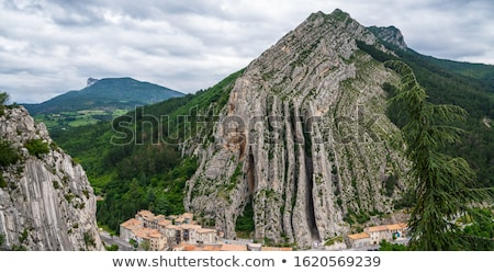 montagnes · roches · France · forêt · paysage · neige - photo stock © ivonnewierink