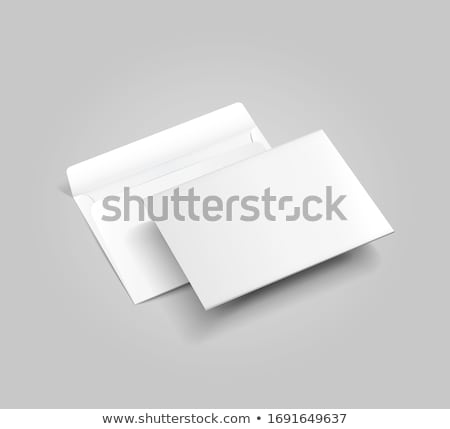 Set of blank vector envelopes isolated on white background. stock photo © tuulijumala