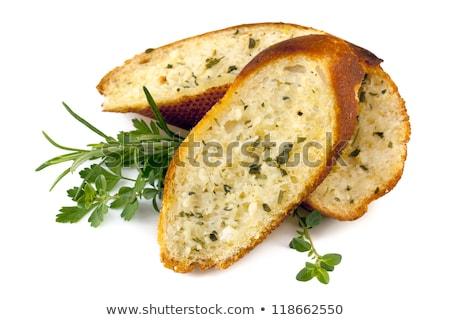 パン パセリ 木材 浅い ディナー ホット ストックフォト © broker