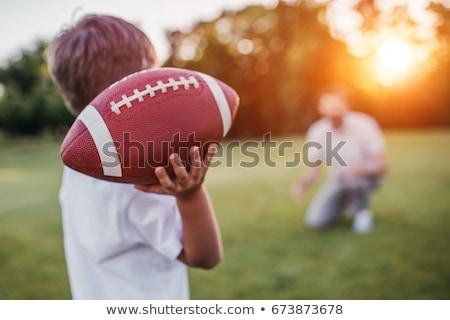 家族 · 公園 · アメリカン · サッカー · 子供 · 男 - ストックフォト © photography33