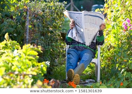 Man having a nap in the garden Stock photo © photography33