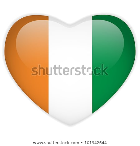 image of heart with flag of ireland stock photo © perysty