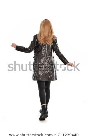 Fantasia espião mulher belo mulher sexy fedora Foto stock © lisafx