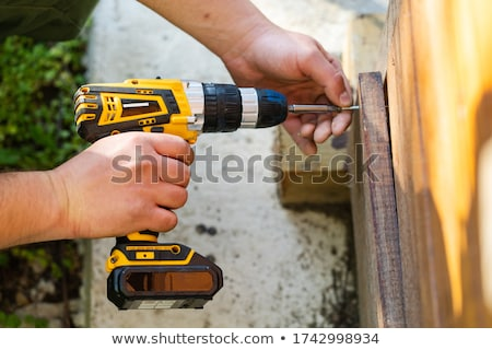 man holding a power tool stock photo © photography33