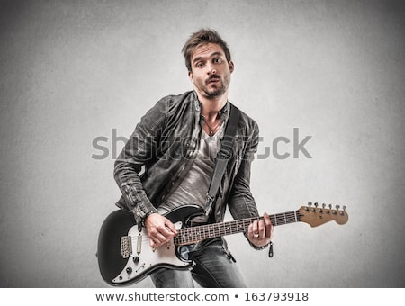 blond man with electric guitar stock photo © photography33