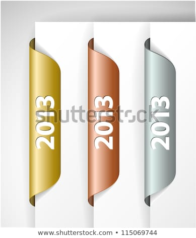 Vektor 2013 címkék matricák perem háló Stock fotó © orson