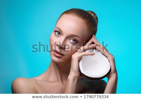 cara · estância · termal · mulher · fundo · beleza - foto stock © gromovataya