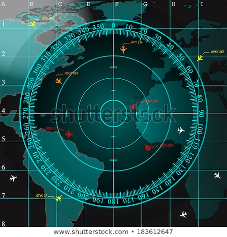 Detailed Illustration of a Radar Screen Stock photo © Kaludov