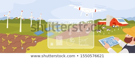 Windmill and crop Stock photo © Gbuglok