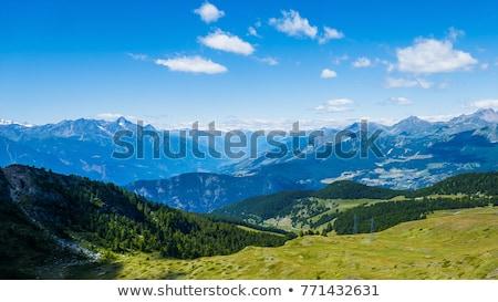 Dağlar görmek yükseklik Ermenistan gökyüzü ahşap Stok fotoğraf © ruzanna