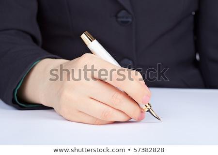 соглашение · чернила · пер · бизнеса · бумаги · Финансы - Сток-фото © pzaxe