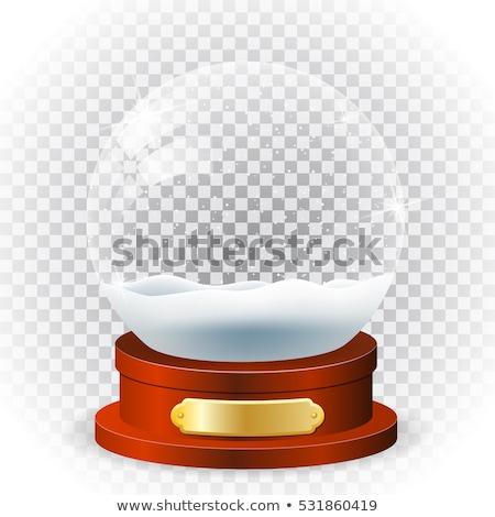 Brinquedo bola de neve branco isolado Foto stock © acidgrey