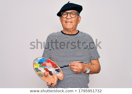 Portrait of a cheery painter Stock photo © photography33