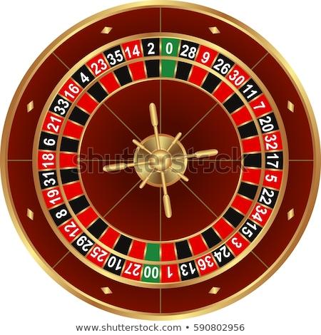Roulettewiel illustratie spel gokken recreatie gelukkig Stockfoto © blamb
